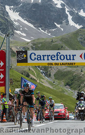The Cyclist Geraint Thomason Col du Lautaret - Tour de France 2014