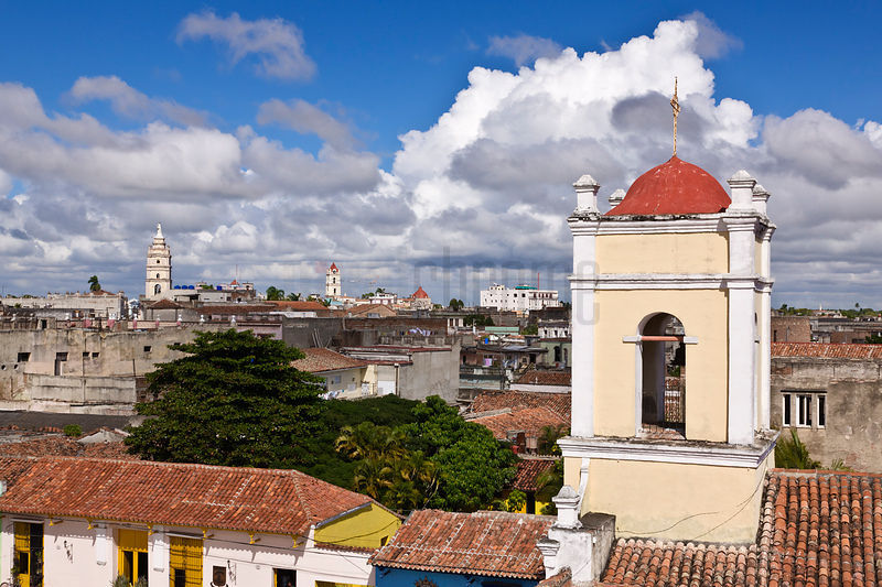Skyline of Camaguey with the Church of Santu Spiritus in the Foreground