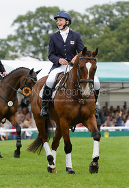 Sarah Stretton and SKIP ON II - show jumping phase, Burghley Horse Trials 2014.