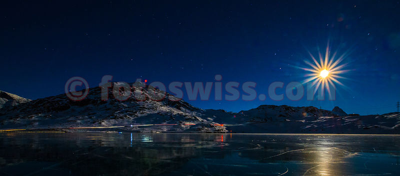 The NIGHT Sky over Lago Bianco at Bernina Pass - Switzerland photos