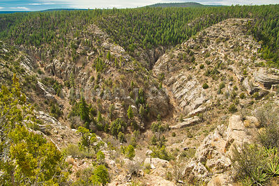 Overview of Walnut Canyon, Arizona