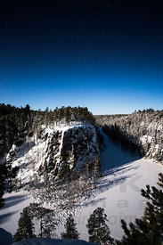 Rsitikallio, Oulanka National Park in moon light
