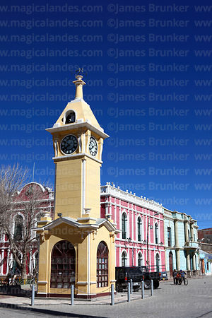 Clock tower and town hall, Uyuni, Bolivia