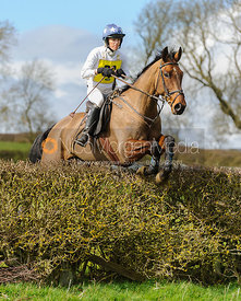 Chloe Shann jumping the last hedge - Harborough Ride 2014