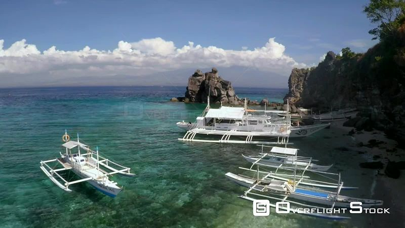 Catamarans in Apo Island Tropical Resort Philippines Asia