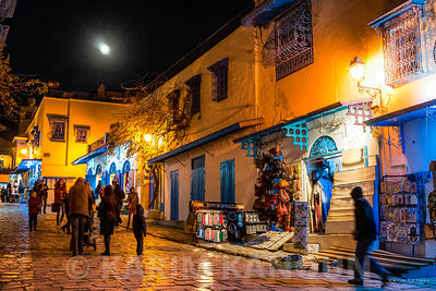Sidi Bou Said Unesco heritage city by nigh