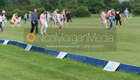 Treading in and sponsors boards - Assam Cup Final - Los Chinos vs. Three Oceans CANI - 30th June 2013.