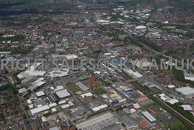 Bolton aerial photograph of the area of Thynne Street Coe Street Bridgeman Street Lever Street Fletcher Street St Marks Street and Nelson Street
