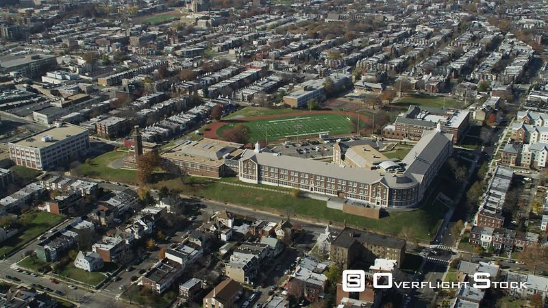 Rotating over McKinley Technology High School and Langley Junior High School in Washington DC. Shot in November