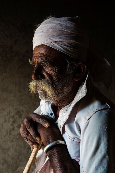 Portrait of Bharwad Man