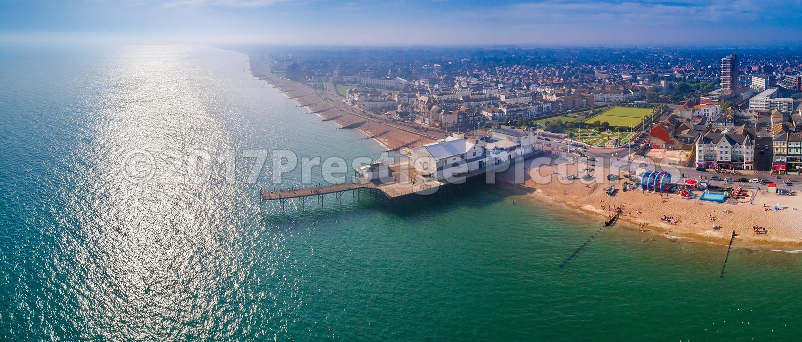 Aerial View of Bognor Regis Beach and Pier