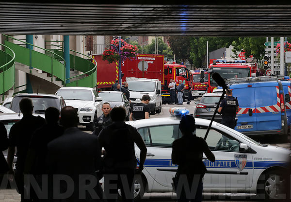 Hostage taking at the church of Saint Etienne du Rouvray photos