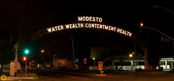 The Modesto Arch at Night #3