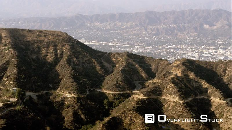 Aerial View Of The WorldFamous Hollywood Sign In The Hollywood Hills, Los Angeles, RED R3D 4k California