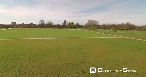 Drone Video of Spring at Hyde Park London England