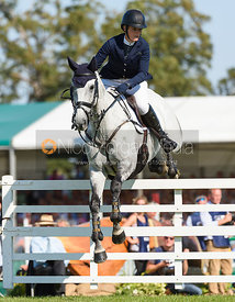 Elizabeth Power and SOLADOUN, showjumping phase, Land Rover Burghley Horse Trials 2018