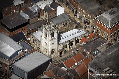 aerial photograph of St Martin le Grand Church  York