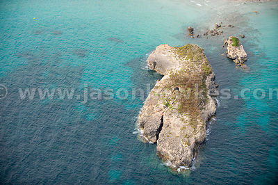 Rocks off the coast of Sant Tomas, Menorca, Spain