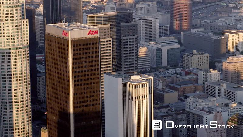 Aerial Cu View Of Downtown Los Angeles, RED R3D 4k California