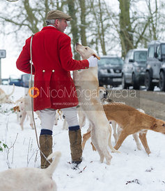 The huntsman Andrew Osborne MFH, with his hounds