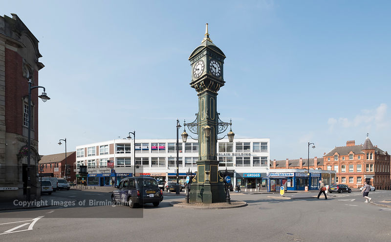 The Jewellery Quarter Clock at The Jewellery Quarter of Birmingham, England