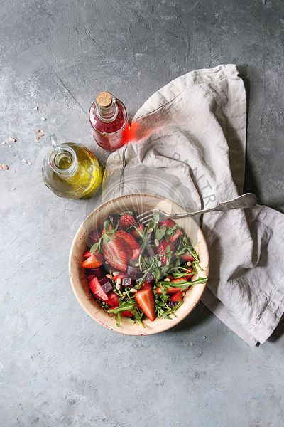 Beetroot and strawberry salad