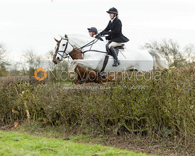 jumping a hedge on Graham Smith's