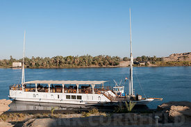 Dahabiya on the Nile.