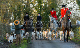 Arriving at the meet - The Quorn at Cream Gorse Farm