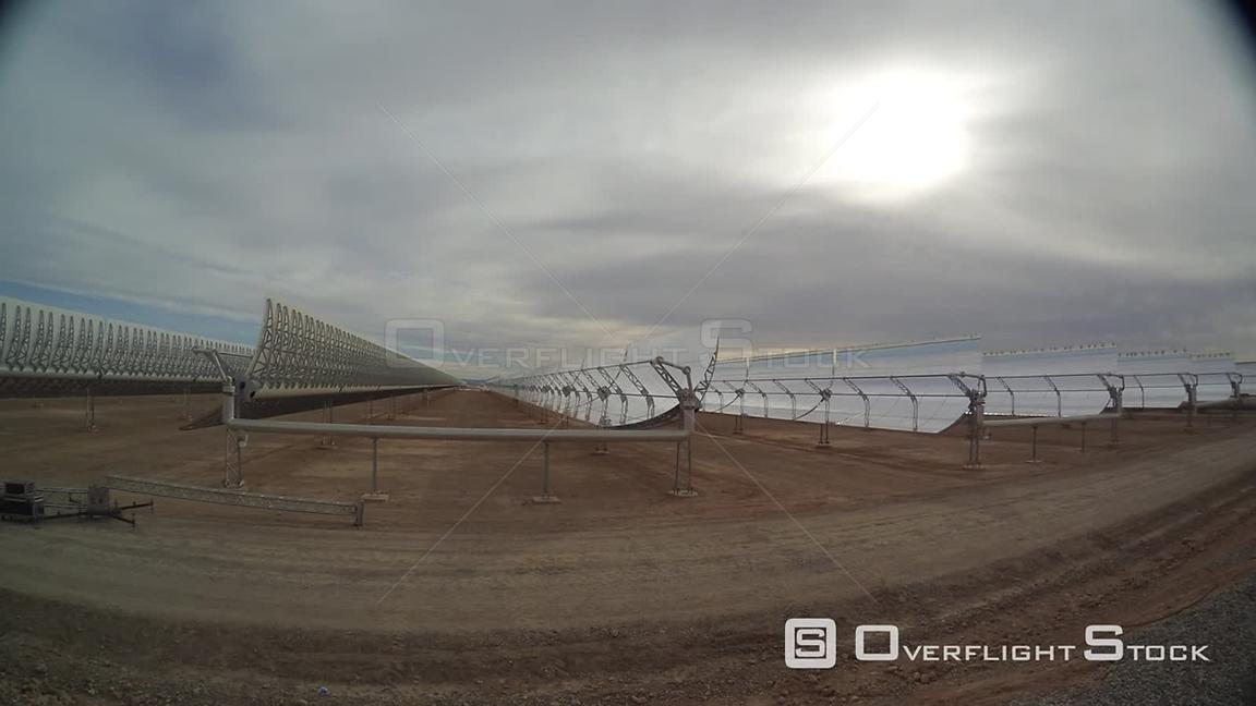 Time Lapse of Bokpoort Concentrated Solar Power CSP Thermal Energy Molten Salt Plant South Africa