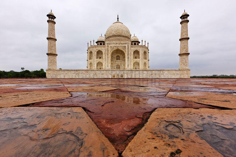 The Taj Mahal after Rain