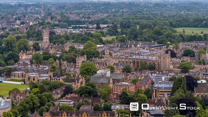 Oxford seen by drone