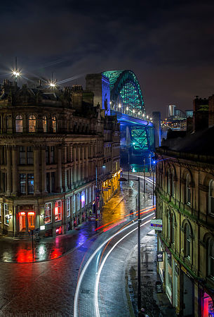 The Tyne Bridge from Sandhill