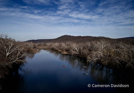 Shenandoah River in the winter