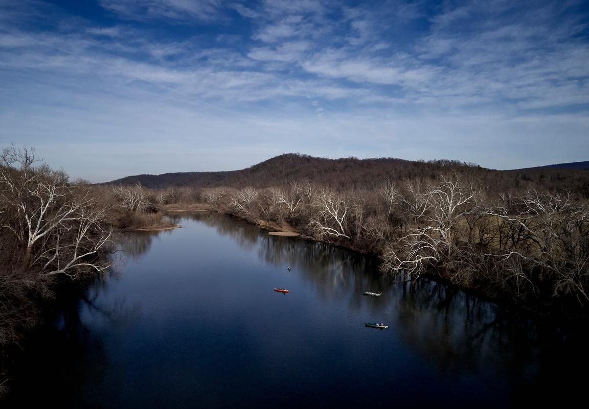Shenandoah River in the winter