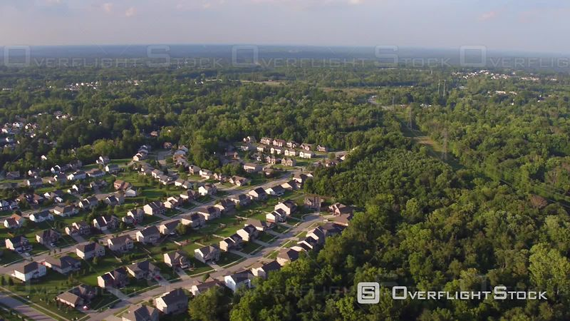 Aerial Footage Neighborhood Near Cincinnati, Ohio