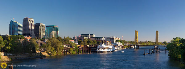 Panorama of the Sacramento River at Downtown #1
