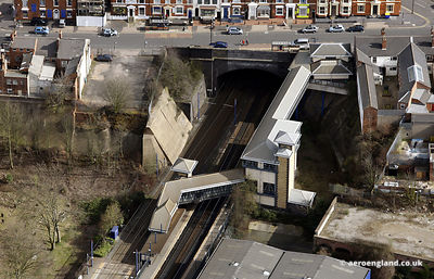 aerial photograph of the Jewellery Quarter station Birmingham, West Midlands England UK