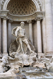 The Trevi fountain, Rome, Italy; Portrait