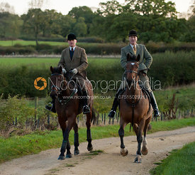 Martin Reason and Peter Cooke - The Cottesmore Hunt at College Farm, 18/10/11