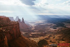 Sunlight over valley, Canyonlands, Utah, USA