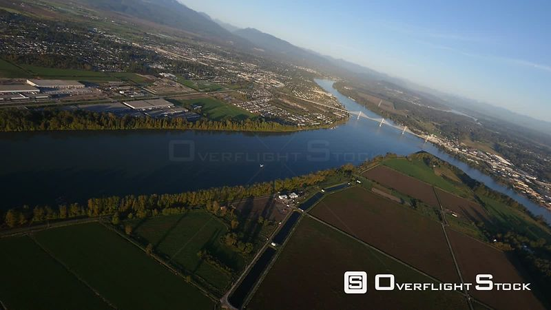 Pitt Meadows and Fraser River and Airport BC