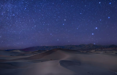 Big Dipper Rising Above the Dunes