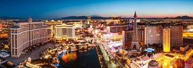Panoramic of the Strip, Las Vegas, Nevada, USA