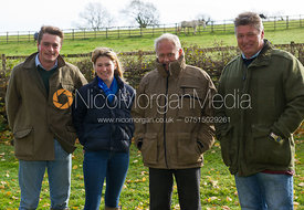 Jack Bevan, Henrietta Philipps and John Greaves - Cottesmore Hunt Opening Meet, 30/10/12