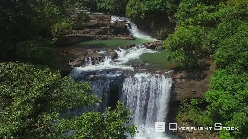Hunas Falls Sri Lanka Drone Video