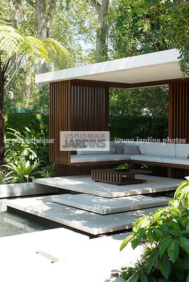 Asiatic garden, Contemporary furniture, Contemporary garden, Exotic garden, Garden construction, Garden furniture, Resting area, Terrace, Tropical garden, Contemporary Terrace, Malaysian garden,