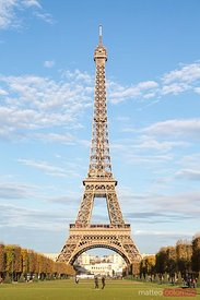 Classic Eiffel tower view from champ de Mars, Paris, France