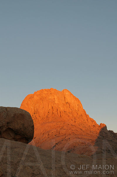 Sunrise on rock spire