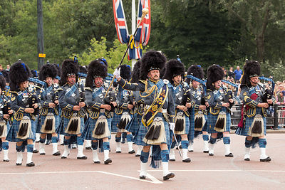 Royal AIr Force Pipes and Drums at the RAF100 Celebrations